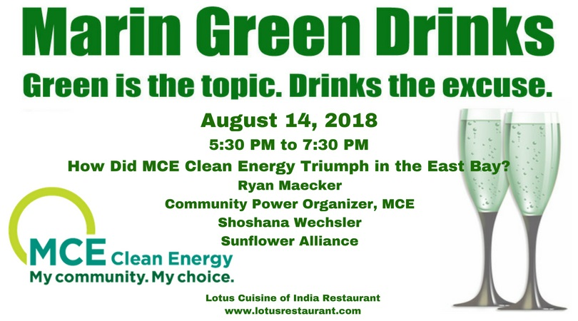 August 14 Marin Green Drinks