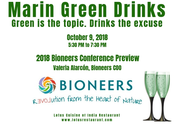 April 11 is the Next Marin Green Drinks