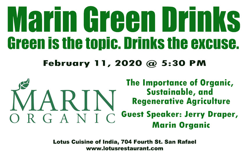 Marin Green Drinks Marin Organic February 2020