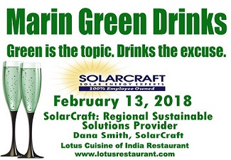 February 13 Marin Green Drinks